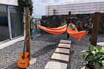 Patio with hammocks