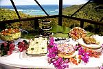 Buffet with sea view