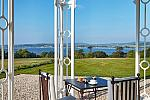 Terrace, view, Lympstone Manor