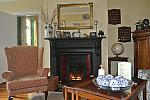 Sitting room, peat fire