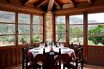 Restaurant, mountain views
