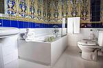 Moorish tiled bathroom