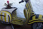 Mosaic-tiled scooter