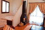 Suite with woodburner and jacuzzi